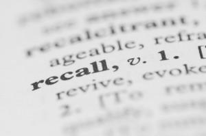 recall dictionary